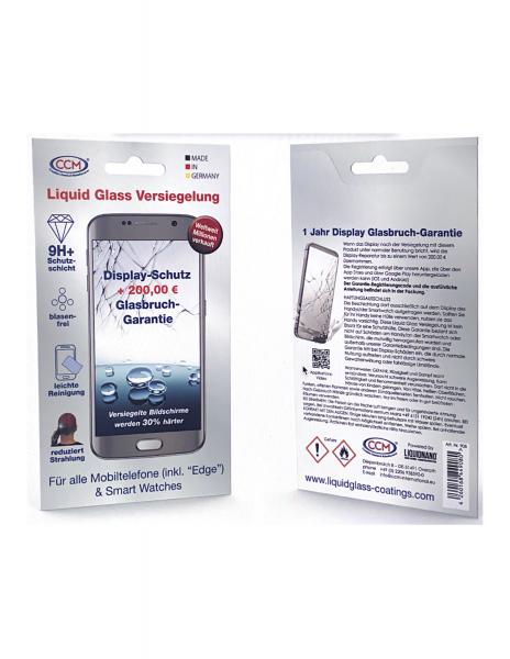 Display-Versicherung incl. Flüssigglas Schutz